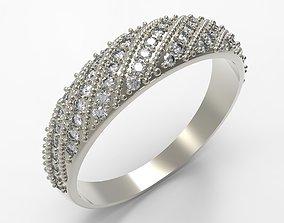 3D print model Elegant Diamond Ring