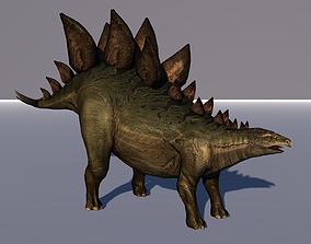 Stegosaurus Dinosaur Animated lizard 3D model