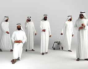 3D Arab man Dubai posed tradtional