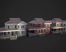 3D asset animated Abandoned House