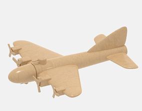 Wooden Bomber 3D asset