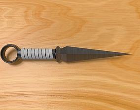 low-poly Kunai Dagger 3D Model
