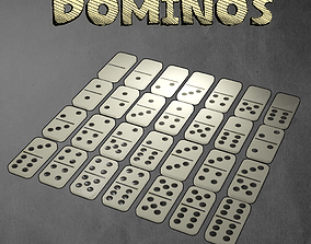 3D asset game-ready Dominos