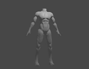 Male torso 3D print model