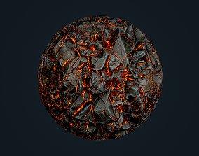 Lava Ground Seamless PBR Texture 06 3D
