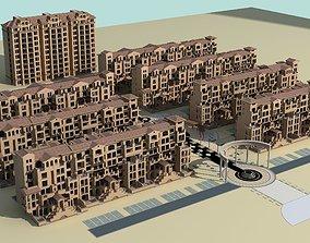 Architecture building low 3D