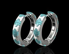 Enamel hoop earrings filigree 3D printable model