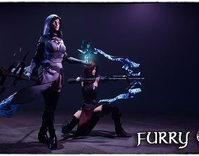 FurryS2 Sorcerer and Archer for Unity 2018 3D asset