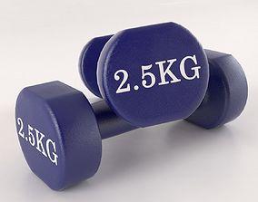 3D Metal 5kg Dumbell