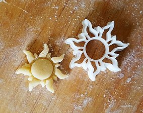 3D printable model Sun cookie cutter