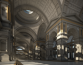 3D Hall of an Ancient Palace