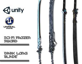 3D asset Sci-fi Sword Pack
