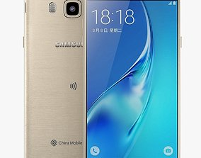 3D Samsung Galaxy J5 2016 Gold