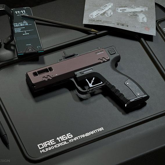 DIRE-1166 Handgun Concept
