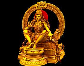 Sabarimala Swami gold Ayyappan 3d model swami