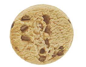 3D model low-poly Chocolate Chip Cookie