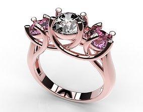 3D print model Fine Jewelry Women Trilogy Ring - CC40