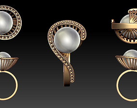 3D print model RING with Pearl