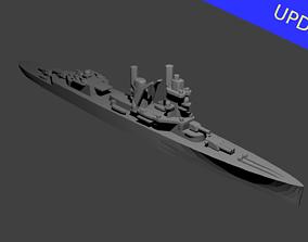 battle Dutch Cruiser De Ruyter Warship 3D print model