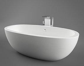 bath NativeStone Avalon 72 and DornBracht shower 3D model