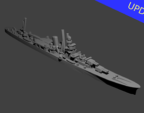 Japanese Agano Class Cruiser Warship 3D print model