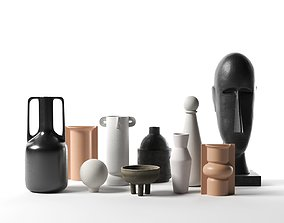 Vases with Head Sculpture 3D