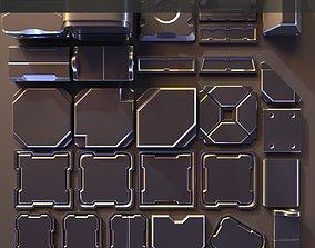 3D Hard Surface Kitbash 02 - Subdiv-Ready