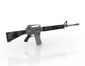 3D M16 assault rifle