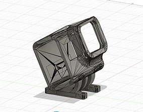 GoPro Hero 5 6 7 Mount for iFlight XL5 3D print model 3
