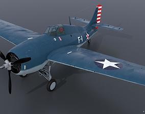 3D model GRUMMAN F4F-3 WILDCAT F1 -Felix-