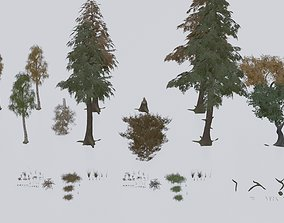 Low Poly Forest Pack With PBR Materials 3D model