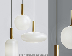 Collect lighting brass and ellipse suspension 3D model 1