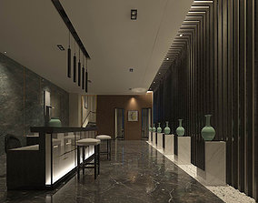 Hotel reception hall design complete 03 3D