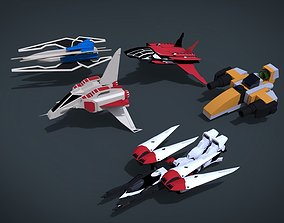 3D asset 5 SpaceShip Collection 03