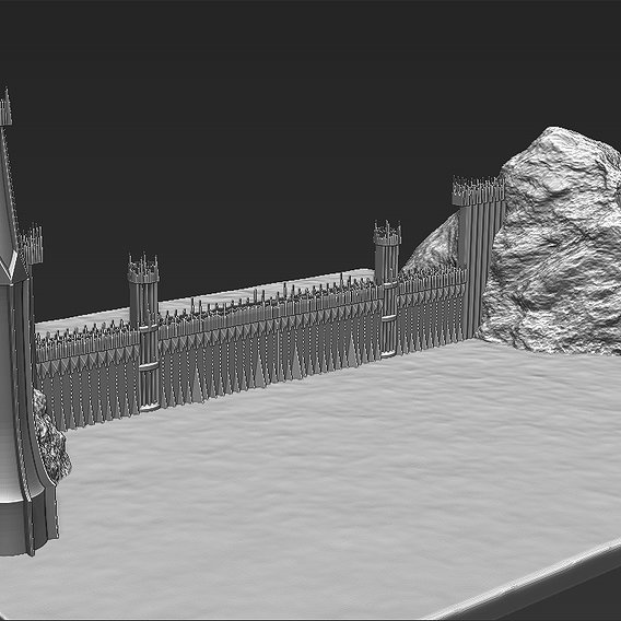 The Black Gate of Mordor from The Lord of the Rings for 3D printing