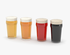 3D model Beer Pint Glass