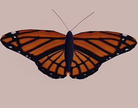 Rigged Low Poly Butterfly 3D asset