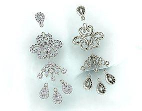 Thailand Diamond Earing 3D printable model