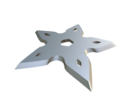 3D printable model knight Shuriken