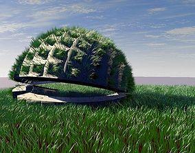 3D model Design pavilion with grass scene