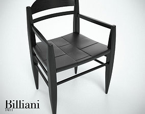 3D model Billiani Vincent VG armchair black