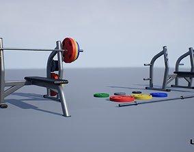 3D asset Flat Press Bench