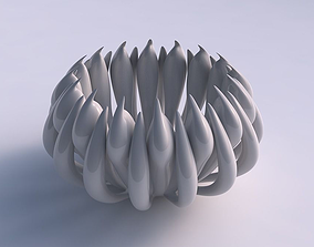 Bowl two layered flower long neck 3D print model