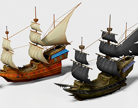 3D model Pirate War Ships
