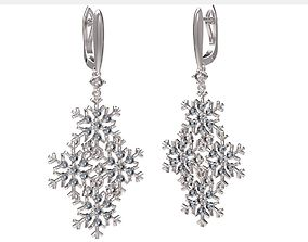 3D print model Earrings gold Snowflake