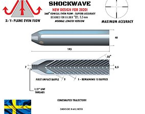 3D print model Silencer SHOCKWAVE normal length 22