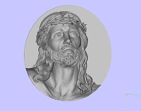 jesus head 3D print model badges