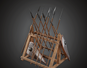 Weapons Rack - MVL - PBR Game Ready 3D asset