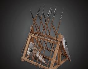 Weapons Rack - MVL - PBR Game Ready 3D asset