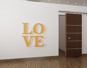 plan 3D print model Love decoration